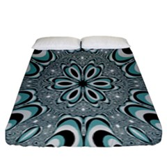 Kaleidoskope Digital Computer Graphic Fitted Sheet (king Size)