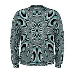 Kaleidoskope Digital Computer Graphic Men s Sweatshirt