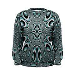 Kaleidoskope Digital Computer Graphic Women s Sweatshirt