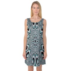 Kaleidoskope Digital Computer Graphic Sleeveless Satin Nightdress