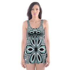 Kaleidoskope Digital Computer Graphic Skater Dress Swimsuit