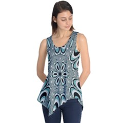 Kaleidoskope Digital Computer Graphic Sleeveless Tunic