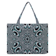 Kaleidoskope Digital Computer Graphic Medium Zipper Tote Bag