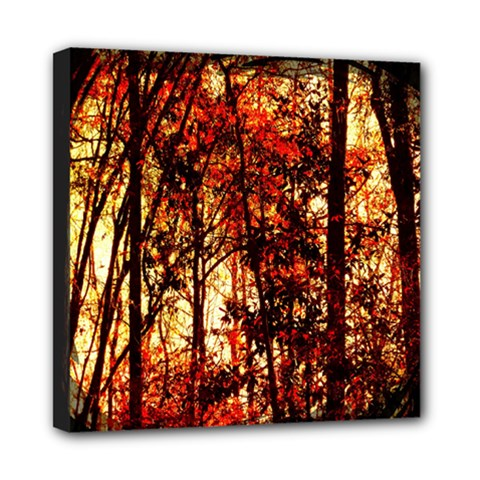 Forest Trees Abstract Mini Canvas 8  x 8