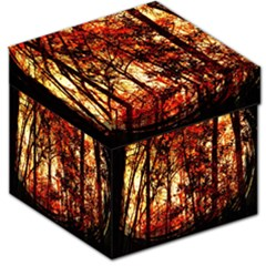 Forest Trees Abstract Storage Stool 12
