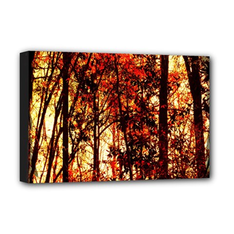 Forest Trees Abstract Deluxe Canvas 18  x 12