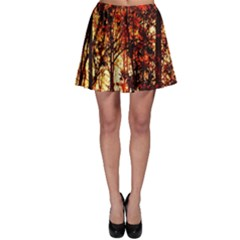 Forest Trees Abstract Skater Skirt