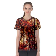 Forest Trees Abstract Women s Sport Mesh Tee