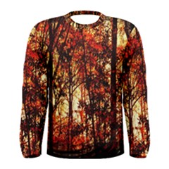 Forest Trees Abstract Men s Long Sleeve Tee