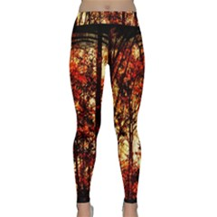 Forest Trees Abstract Classic Yoga Leggings