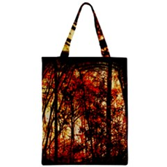 Forest Trees Abstract Zipper Classic Tote Bag