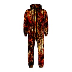 Forest Trees Abstract Hooded Jumpsuit (Kids)