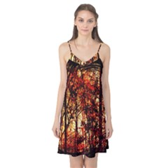 Forest Trees Abstract Camis Nightgown