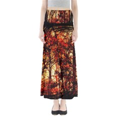 Forest Trees Abstract Maxi Skirts
