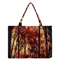Forest Trees Abstract Medium Tote Bag