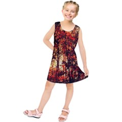 Forest Trees Abstract Kids  Tunic Dress