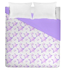 Lilac Stars Double Sided Duvet Cover (queen Size)