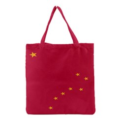 Alaska Star Red Yellow Grocery Tote Bag