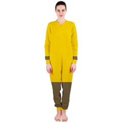 Trolley Yellow Brown Tropical Onepiece Jumpsuit (ladies)
