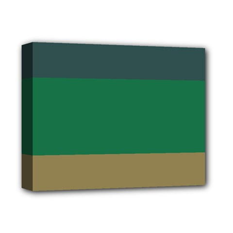 Blue Green Brown Deluxe Canvas 14  x 11