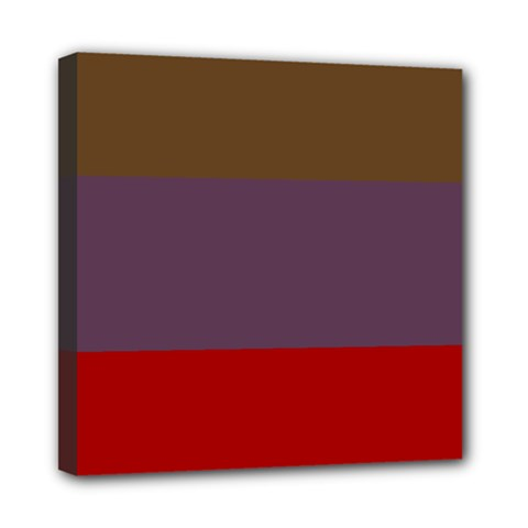 Brown Purple Red Mini Canvas 8  x 8