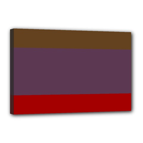 Brown Purple Red Canvas 18  x 12