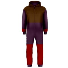 Brown Purple Red Hooded Jumpsuit (Men)