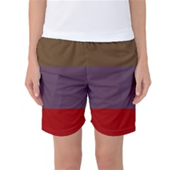 Brown Purple Red Women s Basketball Shorts