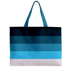 Line Color Black Green Blue White Zipper Mini Tote Bag