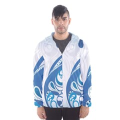 Delicate Tree Leaf Hooded Wind Breaker (Men)