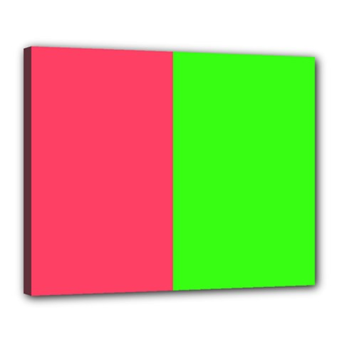 Neon Red Green Canvas 20  x 16