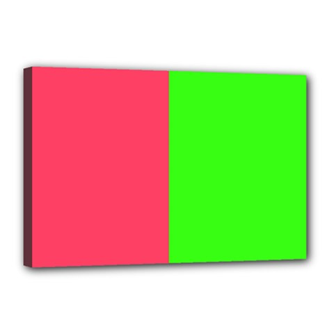 Neon Red Green Canvas 18  x 12