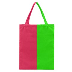 Neon Red Green Classic Tote Bag