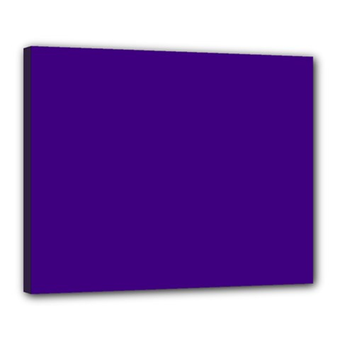 Plain Violet Purple Canvas 20  x 16