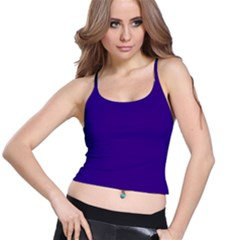 Plain Violet Purple Spaghetti Strap Bra Top