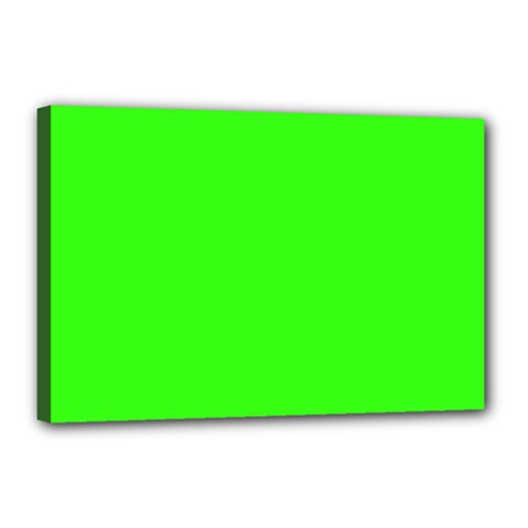 Plain Green Canvas 18  x 12
