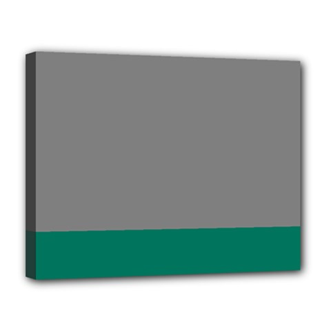 Trolley Grey Green Tropical Canvas 14  x 11