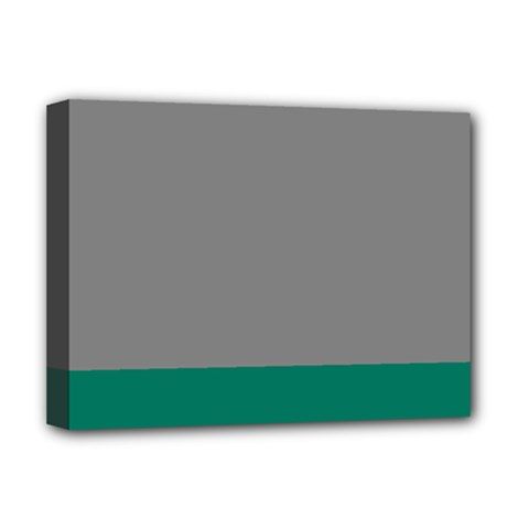 Trolley Grey Green Tropical Deluxe Canvas 16  x 12