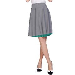 Trolley Grey Green Tropical A-Line Skirt