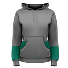 Trolley Grey Green Tropical Women s Pullover Hoodie