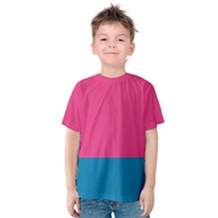 Trolley Pink Blue Tropical Kids  Cotton Tee