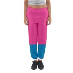 Trolley Pink Blue Tropical Women s Jogger Sweatpants