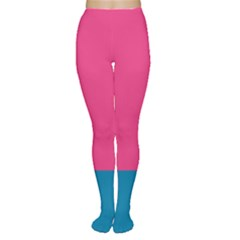 Trolley Pink Blue Tropical Women s Tights