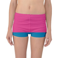 Trolley Pink Blue Tropical Reversible Bikini Bottoms
