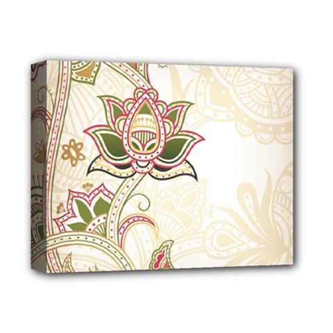Floral Flower Star Leaf Gold Deluxe Canvas 14  x 11