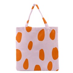 Polka Dot Orange Pink Grocery Tote Bag