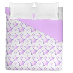 Pink And Lilac Stars Double Sided Duvet Cover (queen Size)