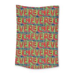 Typographic Graffiti Pattern Small Tapestry