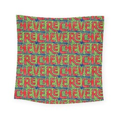 Typographic Graffiti Pattern Square Tapestry (small)