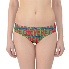 Typographic Graffiti Pattern Hipster Bikini Bottoms